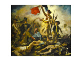 "Ferdinand Delacroix (1798-1863) ""Liberty On The Barricades"" (1830) Prints by Oleg Golovnev"