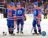 Edmonton Oilers - Jordan Eberle, Ryan Nugent-Hopkins, Tally Hall Photo Photo