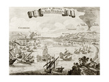 An Old Illustration Of Strait Of Messina, Between Italian Peninsula And Sicily Prints by  marzolino