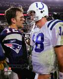 Indianapolis Colts, New England Patriots - Peyton Manning, Tom Brady Photo Photographie