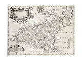 An Old Map Of Sicily, The Original Was Created By V Posters by  marzolino