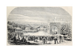 Antique Illstration Of Cantagallo Railway Station Inauguration, Brazil Prints by  marzolino