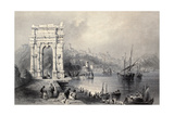 Antique Illustration Of Arco Di Traiano In Ancona, Italy Prints by  marzolino
