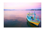 Colorful Boat At Sunset In The Bay Of Beautiful Portuguese Colonial Typical Town Art by  OSTILL