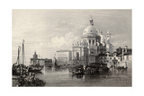 Antique Illustration Of Santa Maria Della Salute Basilica, Venice, Italy Prints by  marzolino