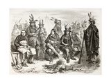 American Civil War: Delaware Indians (Lenape) Enrolled In Federal Army Art by  marzolino