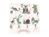 Cute Zoo Alphabet Posters by  smilewithjul