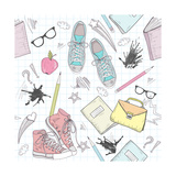 Cute School Abstract Pattern Posters by cherry blossom girl