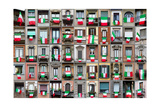Composition Of Windows Showing Italian Flags Poster by Simone Simone
