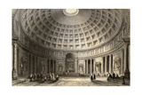 Antique Illustration Of Pantheon In Rome, Italy Posters af  marzolino