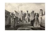 marzolino - Antique Illustration Of Pompeii Roman House, Southern Italy Plakát