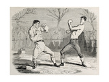 Antique Humorous Illustration Of A Boxing Match Beginning Poster by  marzolino