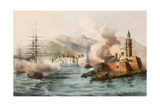Antique Illustration Shows Palermo Bombing In 1860 By Bourbon'S Fleet Posters by  marzolino