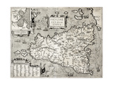 Antique Map Of Sicily With Syracuse Detail Prints by  marzolino