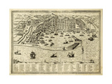 Antique Map Of Messina The Town Of Sicily Separated From Italy By The Strait Of The Same Name Prints by  marzolino