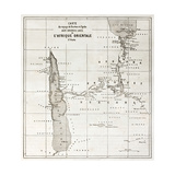Great Lakes Region Old Map, Eastern Africa Premium Giclee Print by  marzolino
