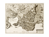 Antique Map Of Syracuse, Sicily Posters by  marzolino