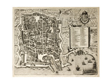 Antique Map Of Palermo, The Main Town In Sicily Prints by  marzolino