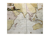 Indian Ocean Old Map, Southern Asia, Eastern Africa And West Australia Posters by  marzolino