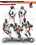 Miami Heat - Ray Allen, LeBron James, Dwyane Wade, Chris Bosh, Mario Chalmers Photo Photo