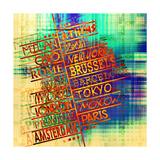 Art Vintage Word Pattern Affiche par Irina QQQ