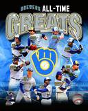 Milwaukee Brewers - Yount, Molitor, Fielder, Cooper, Fingers, Oglivie, Caldwell, Gantner, Thomas Ph Photo