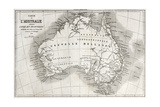 Australia Old Map Prints by  marzolino