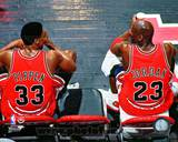Chicago Bulls - Michael Jordan, Scottie Pippen Photo Photo