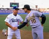 Oakland Athletics, Los Angeles Dodgers - Tony La Russa, Tommy LaSorda Photo Photo