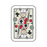 Hand Drawn Deck Of Cards, Doodle Jack Of Spades Isolated On White Background Premium Giclee Print by Andriy Zholudyev
