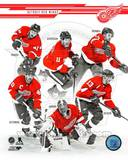 Detroit Red Wings - Pavel Datsyuk, Henrik Zetterberg, Daniel Alfredsson, Jimmy Howard, Johan Franze Photo