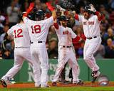 Boston Red Sox - Shane Victorino, Dustin Pedroia, Jonny Gomes, Mike Napoli Photo Photo