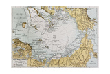 Arctic Old Map. By Paul Vidal De Lablache, Atlas Classique, Librerie Colin, Paris, 1894 Prints by  marzolino