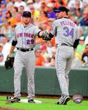 New York Mets - Mike Pelfrey, Ike Davis Photo Photo