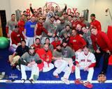 Boston Red Sox - Shane Victorino, Dustin Pedroia, Mike Napoli Photo Photo