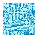 Electronic Digital Circuit Board Poster by  pzAxe