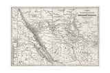 Rocky Mountains Old Map, Usa Prints by  marzolino