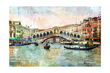 Rialto Bridge - Venetian Picture - Artwork In Painting Style Prints by  Maugli-l