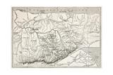 Kabylie Old Map, Algeria. Created By Erhard, Published On Le Tour Du Monde, Paris, 1867 Giclee-tryk i høj kvalitet af  marzolino