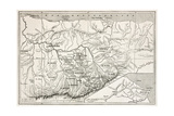 Kabylie Old Map, Algeria. Created By Erhard, Published On Le Tour Du Monde, Paris, 1867 Posters af  marzolino