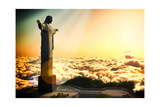 Famous Statue Of The Christ The Reedemer, In Rio De Janeiro, Brazil Posters af Satori1312