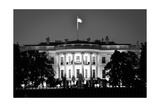 The White House At Night - Washington Dc, United States - Black And White Posters by  Orhan
