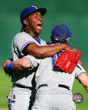 Texas Rangers - Michael Young, Neftali Feliz Photo Photo