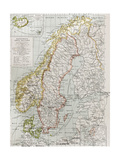 Scandinavia Political Map With Iceland Insert Map Poster by  marzolino