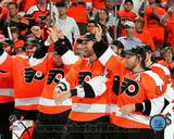 Philadelphia Flyers - Scott Hartnell, Michael Leighton, Arron Asham, Jeff Carter Photo Photo
