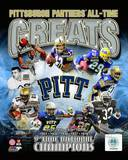 Pittsburgh Panthers - Dorsett, Martin, Marino, Ditka, Fitzgerald, Revis, McCoy, Jackson, Lewis Phot Photo