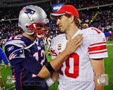 New England Patriots, New York Giants - Tom Brady, Eli Manning Photo Photo