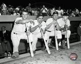 New York Yankees - Yogi Berra, Mickey Mantle, Roger Maris, Bill Skowron Photo Photo