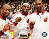 Miami Heat - LeBron James, Dwyane Wade, Chris Bosh Photo Photo