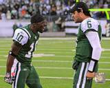 New York Jets - Santonio Holmes, Mark Sanchez Photo Photo